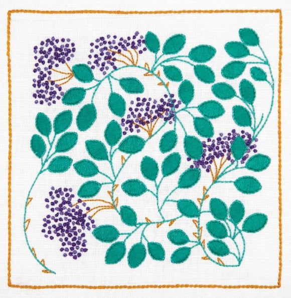 Hedgerow Berries Embroidery Kit, Dee Hardwicke Freestyle Embroidery DEE202