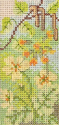 Hedgerow Spring Cross Stitch Kit, Derwentwater Designs HRW01