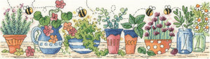 Herb Garden Counted Cross Stitch Kit, Heritage Crafts -Karen Carter