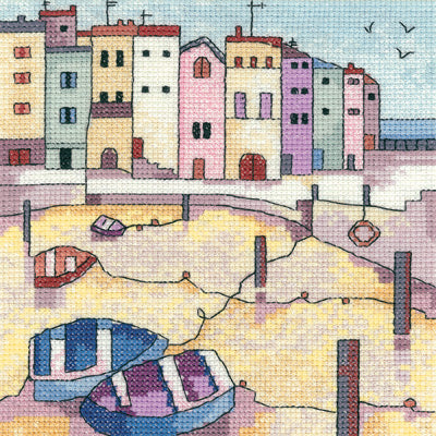 Cross Stitch Kit Quiet Moorings, Counted Cross Stitch Kit PHQM1265