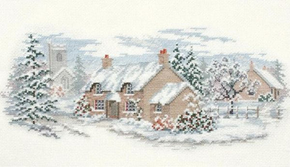 Holly Lane Cross Stitch Kit,  Derwentwater Designs