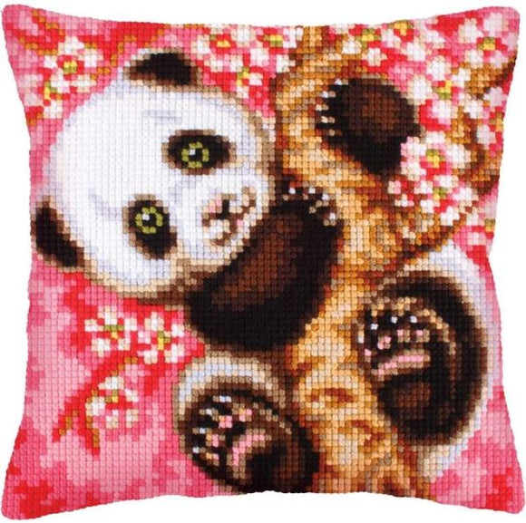 Hooray, It's Spring, Panda CROSS Stitch Tapestry Kit, Collection D'Art CD5242