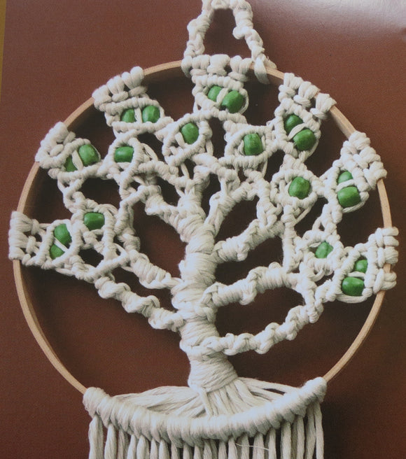 Macrame Kit, Macrame Wall Hanging Cotton Knot Kit Tree of Life 24