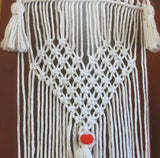 Macrame Kit, Macrame Wall Hanging Cotton Knot Kit Heart 24""
