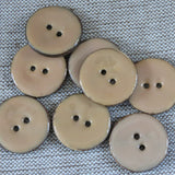 Glazed Coconut Buttons, Salmon Button - Large, 30mm