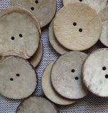 Coconut Buttons, Cream Rustic Textured Coconut Button - Extra Large, 40mm