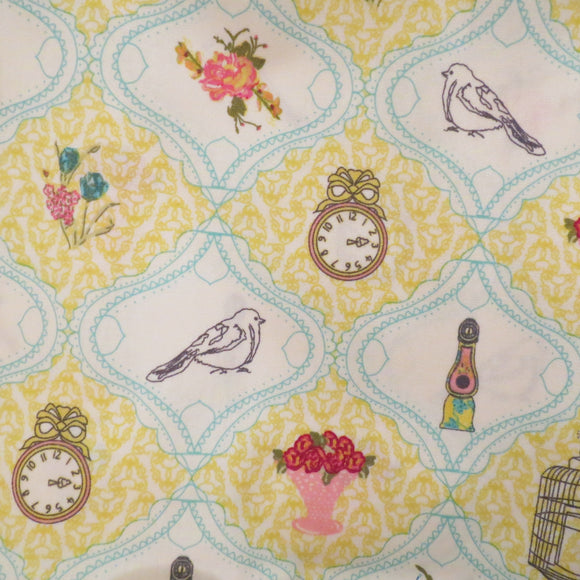 Art Gallery Fabrics, Cotton Fabric Fat Quarter - French Sampler