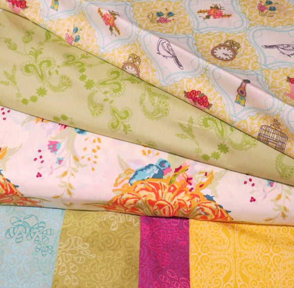 Art Gallery Fabrics, Cotton Fabric Bundle, Fat Quarters - Set of 7