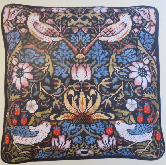 William Morris Tapestry Kit Needlepoint Kit Strawberry Thief TAC3