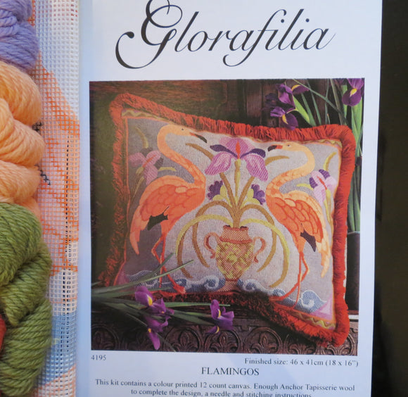 Flamingos, Glorafilia Needlepoint Kit GL4195