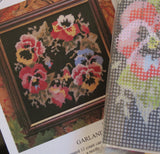 Glorafilia Tapestry Kit Needlepoint Kit Pansy Garland Mini GL495