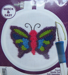 Punch Needle Kit, Butterfly Punch Needle Embroidery Starter Kit 220