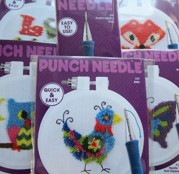 Punch Needle Kits, Punch Needle Embroidery Starter Set of 5