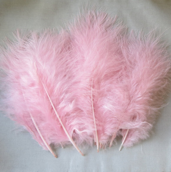 Marabou Feathers, Luxury Marabout Feathers - Premium Rose x 12