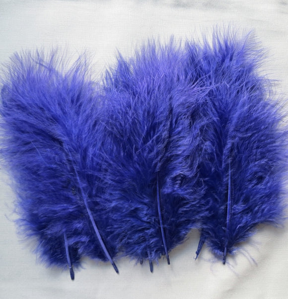 Marabou Feathers, Luxury Marabout Feathers - Premium Purple x 12
