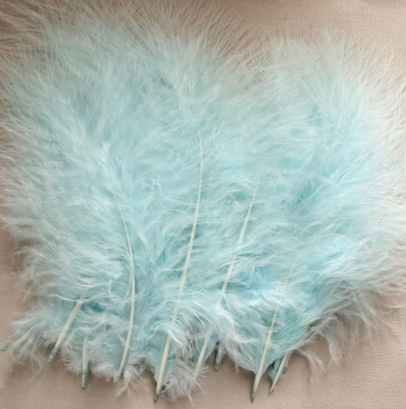 Marabou Feathers, Luxury Marabout Feathers - Premium Teal x 12