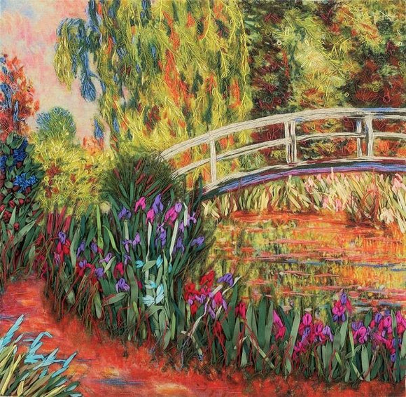 Irises by the Pond Embroidery Kit, Ribbon Embroidery Panna JK-2058