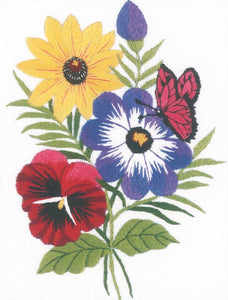 Pansy Butterfly Embroidery Kit, Janlynn 004-0852