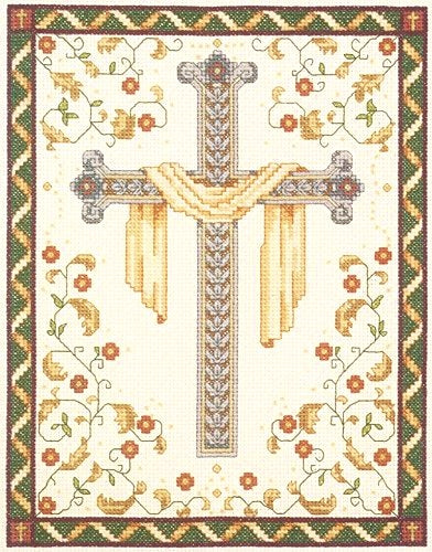 Cross Stitch Kit His Cross, Counted Cross Stitch Kit 021-1018