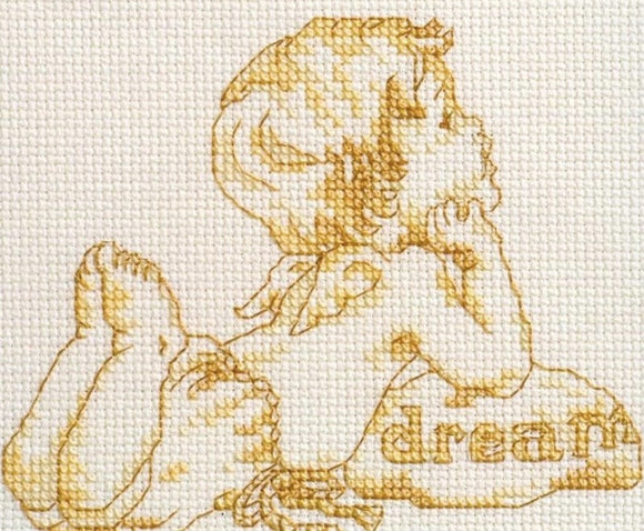 Words of Gold, Dream Counted Cross Stitch Kit Janlynn 063-0103