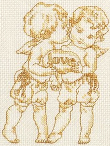 Words of Gold, Love Counted Cross Stitch Kit Janlynn 063-0107