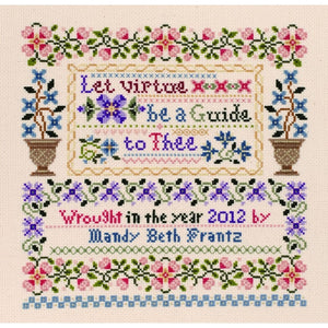 Let Virtue be a Guide to Thee Sampler Counted Cross Stitch Kit 093-0370