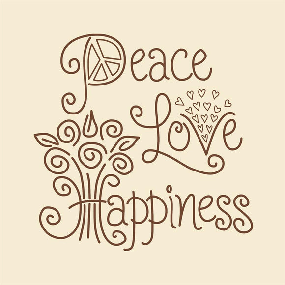 Embroidery Kit Peace, Love, Happiness Embroidery 021-1787