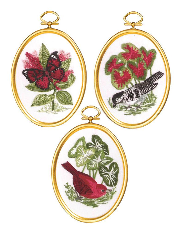 Embroidery Kit Natures Glory Embroidery Set of 3, 004-0867