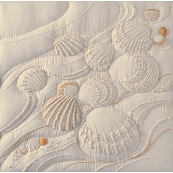 Embroidery Kit Ocean's Edge Shells Candlewicking Embroidery CR0058