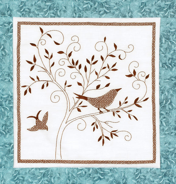 Embroidery Kit Bird Silhouette Embroidery 021-1786