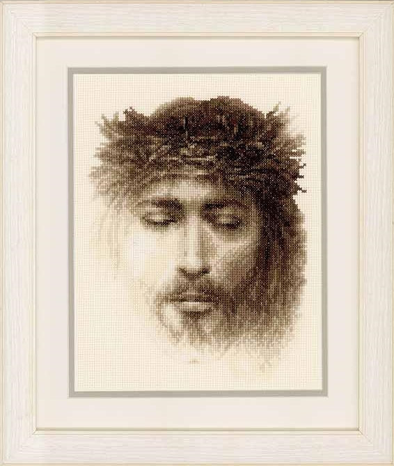 Jesus Cross Stitch Kit, Vervaco PN-0145795