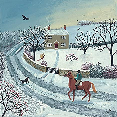 Winter Ride Cross Stitch Kit, Jo Grundy