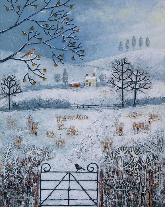 Cross Stitch Kit Winter Fields, Jo Grundy LARGE Counted Cross Stitch