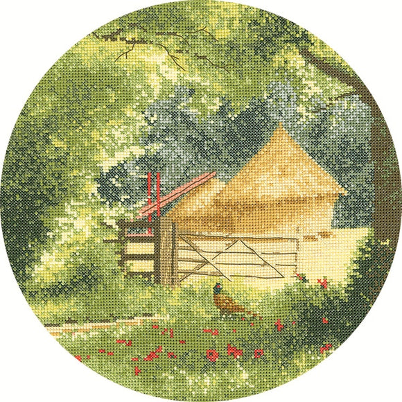Haystacks Cross Stitch Kit, John Clayton Circles, Heritage Crafts
