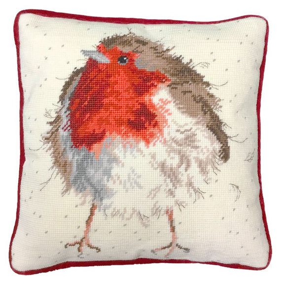 Jolly Robin Tapestry Kit, Needlepoint Kit Bothy Threads THD5