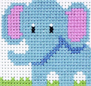 Cross Stitch Kit Starter/ Beginners Elephant Counted Cross Stitch Kit