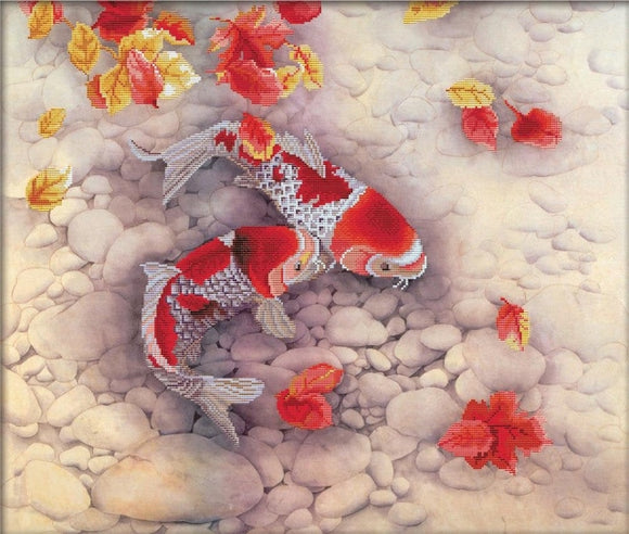 Koi Carp NO-COUNT Printed Cross Stitch Kit N750-020