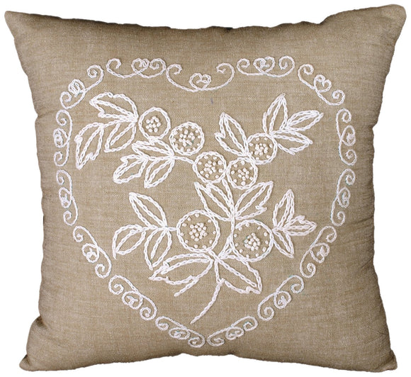 Lace Heart Cushion Embroidery Kit, Design Works 3004