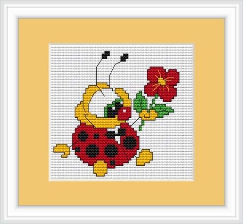 Ladybird Cross Stitch Kit Mini, Riolis B062