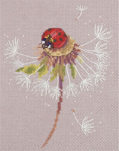 Ladybird on Dandelion Cross Stitch Kit, Panna PS-7034