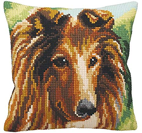 Lassie CROSS Stitch Tapestry Kit Sheltie, Collection D'Art CD5159