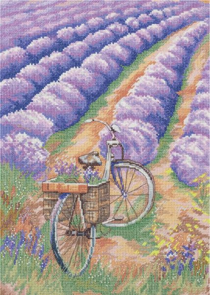 Lavender Field Cross Stitch Kit, Panna PS-1899