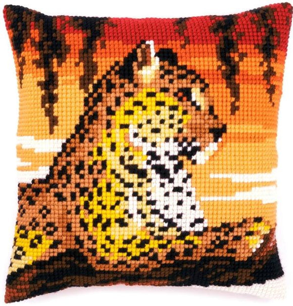 Sunset Leopard CROSS Stitch Tapestry Kit, Vervaco pn-0162253