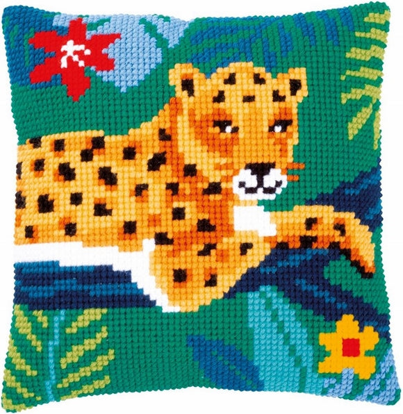 Leopard CROSS Stitch Tapestry Kit, Vervaco PN-0179520