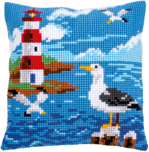Lighthouse and Seagulls CROSS Stitch Tapestry Kit, Vervaco PN-0158364