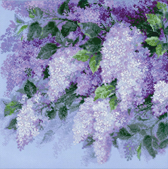 Cross Stitch Kit Lilacs after the Rain, Counted Cross Stitch Riolis R1533