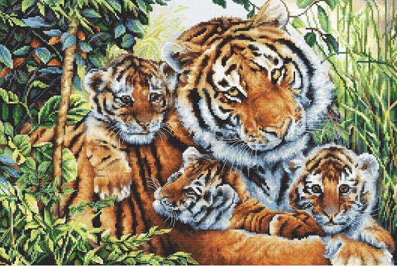 Lily's Pride, Tiger Cross Stitch Kit (Luca-s) LetiStitch LETI911