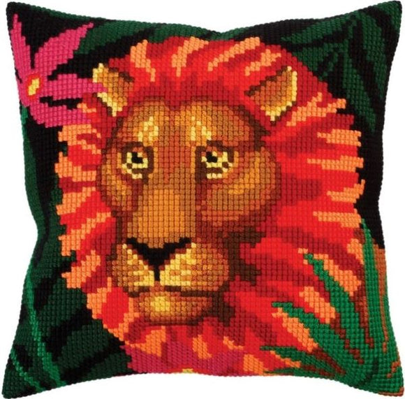 Night Jungle Lion CROSS Stitch Tapestry Kit, Collection D'Art CD5300