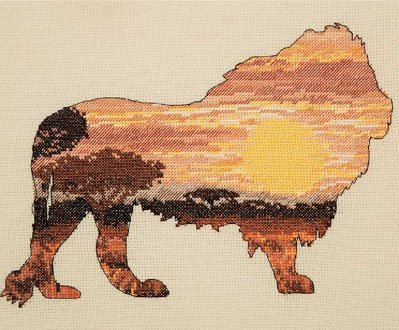 Lion Silhouette Cross Stitch Kit, Maia 5678000-5041