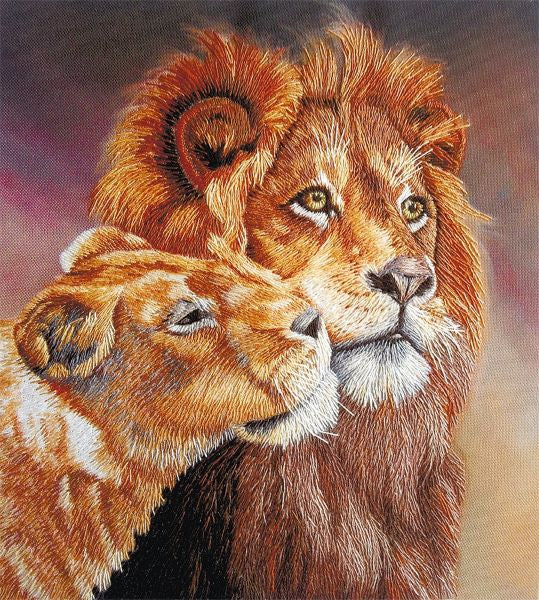 Lions Embroidery Kit, Panna JK-2095